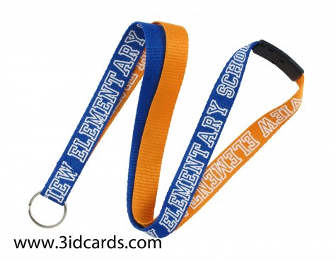 Show your school spirit with at personalized Two-Tone Lanyard